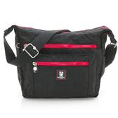 金安德森 極簡玩色 中型正方款斜側輕旅包-低調黑紅