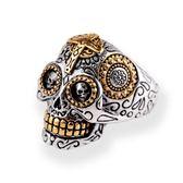 戒指男個性朋克歐美復古骷髏頭戒指