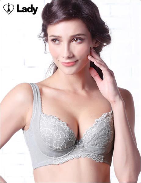 LADY 深線魅力系列 機能調整型 G罩內衣(質感灰)