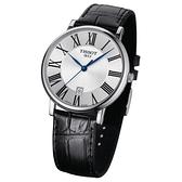 TISSOT 天梭 Carson 羅馬石英錶-40mm T1224101603300
