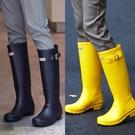雨鞋女士水鞋高筒長筒時尚款外穿膠鞋防水防滑套鞋成人水靴雨靴女 設計師生活百貨