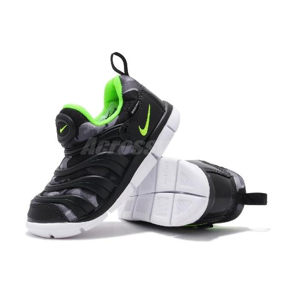 Nike 慢跑鞋 Dynamo Free TD 黑 綠 童鞋 小童鞋 運動鞋 【ACS】 CQ5416-941
