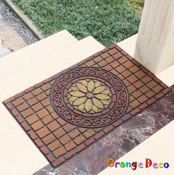 地墊【橘果設計】多款可選 古典羅馬防滑刮泥蹭土地墊45*75cm 玄關門口進門橡膠門墊地毯腳墊地墊