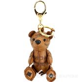 MCM Visetos Zoo Bear 小熊造型吊飾鑰匙圈(白蘭地色) 1920234-B3