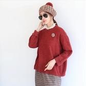 韓版 蕾絲拼接假兩件針織衫 (BBKV) 預購