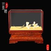 定制關公佛像寶籠玻璃罩實木頭底座蓮花觀音財神貔貅