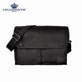 【COLORSMITH】BJ2.雙口袋側背包.BJ2-1072-BK