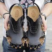 潮鞋男士真皮包頭涼鞋夏天 易樂購生活館