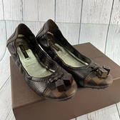 BRAND楓月 LOUIS VUITTON LV 路易威登 經典 棋盤格 彈性 平底鞋 休閒鞋 娃娃鞋 女鞋 #36