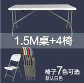 熊孩子❃折疊桌 戶外長桌子 簡易辦公桌 擺攤桌 便攜式會議桌 折疊餐桌椅(主圖款15)