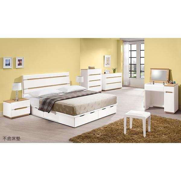 【森可家居】露西5尺床片型床組(全組) 8ZX419-2 雙人房間組 白色 無印 北歐風