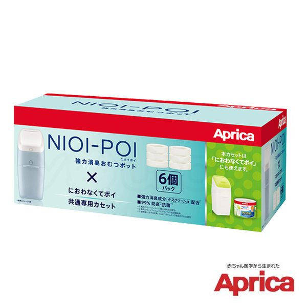 【新包裝】愛普力卡 Aprica NIOI-POI 強力除臭尿布處理器 專用替換膠捲(6入)