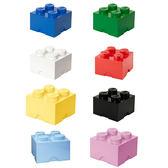 【 樂高積木 LEGO 】經典方塊四置物盒 ( 8色可選 )╭★ JOYBUS玩具