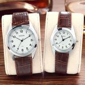 韓國時尚潮流手錶女學生韓國簡約皮帶復古男錶石英錶情侶手錶