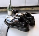 夏季皮鞋男韓版潮流百搭透氣鞋子男學生休閒青少年英倫黑色小皮鞋 琉璃美衣
