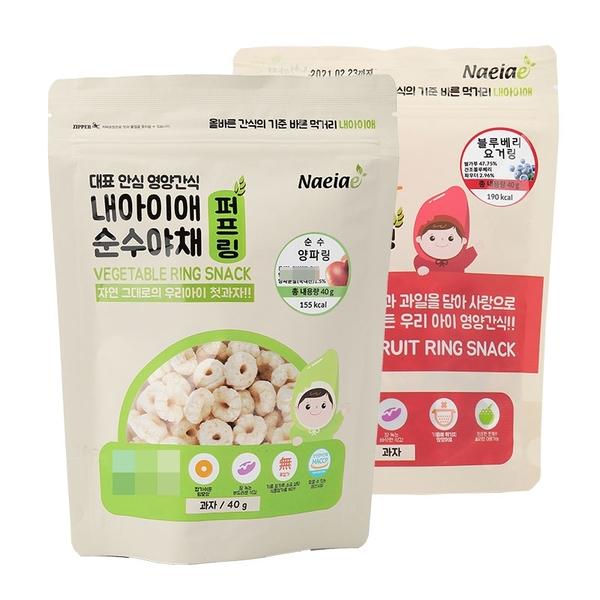 韓國Naeiae 寶寶米餅 圈圈米餅 40g【庫奇小舖】