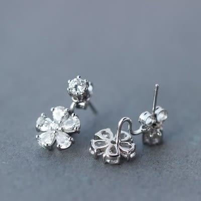 925純銀耳環(耳針式)-時尚迷人櫻花生日聖誕節禮物女飾品73dr106[時尚巴黎]