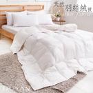 《DUYAN竹漾》台灣製100% 天然保暖水鳥羽絲絨被-白色