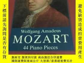 二手書博民逛書店MOZART罕見44 PIANO PIECES 莫扎特44首鋼琴