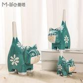 北歐原木小貓動物客廳臥室酒櫃裝飾品擺件美式創意小擺設【元氣少女】