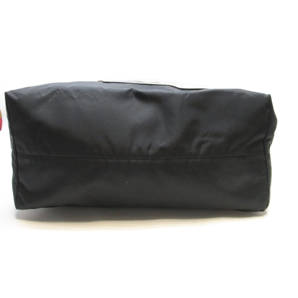 PRADA 普拉達 黑色帆布肩背斜背兩用包 【二手名牌BRAND OFF】