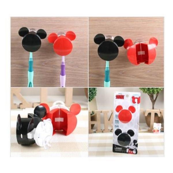 【震撼精品百貨】Micky Mouse_米奇/米妮 ~DISNEY 米奇 MICKEY 牙刷收納架(紅&黑/頭型/二入)