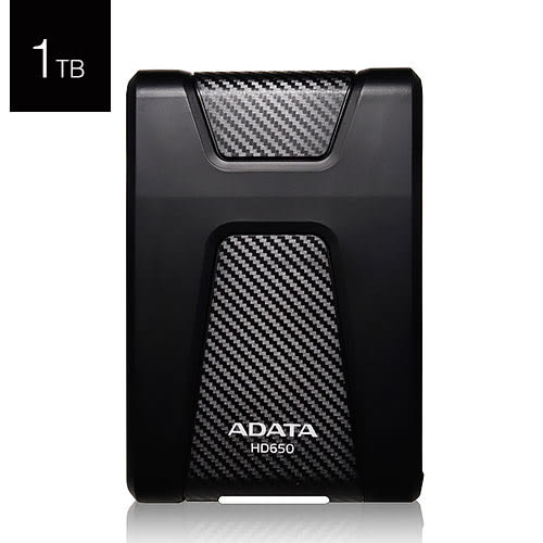 ADATA 威剛 DashDrive Durable HD650 1T B USB3.0 2.5吋 黑色 外接硬碟