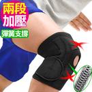 寬版X加壓雙彈簧護膝蓋.前端開孔開放式髕骨護腿.綁帶束帶膝蓋保暖.可調式調整調節推薦哪裡買