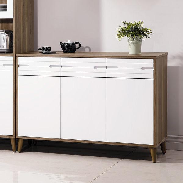 【森可家居】歐文北歐4尺餐櫃 7HY410-4 廚房收納櫃 中島 無印北歐風