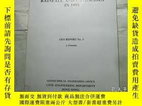 二手書博民逛書店HONG罕見KONG RAINFALL AND LANDSLID