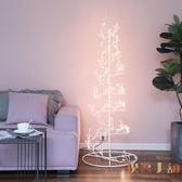 聖誕節裝飾品小型白色發光樹燈場景布置聖誕樹擺件【倪醬小鋪】