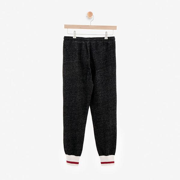 女裝ROOTS - 溫馨佳節刷毛休閒棉褲-黑色