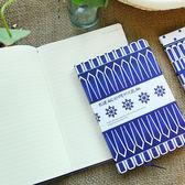 【BlueCat】藍白幾何簡約筆記本(小本)