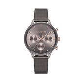【Paul Hewitt】德國船錨時尚三眼計時腕錶-金屬灰/PH-E-GRM-GRM-52S/台台灣總代理公司貨享兩年保固