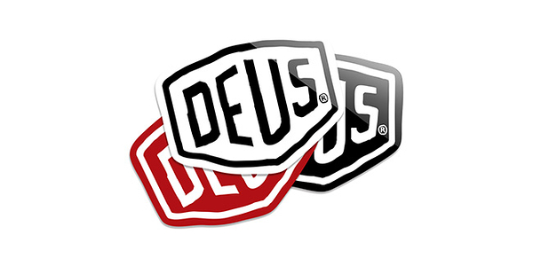Deus Ex Machina Vinyl Sticker - Shield 貼紙-男/女(白)