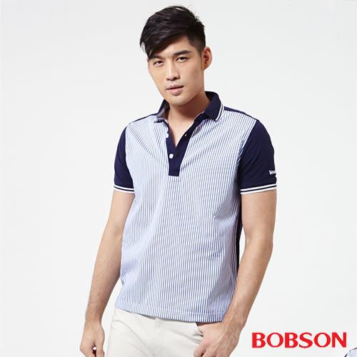 BOBSON 男款配條POLO上衣(25011-53)
