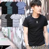 MIT素面短T【ZJT0003】OBI YUAN韓版馬卡龍色系彈性圓領短袖T恤 共7色