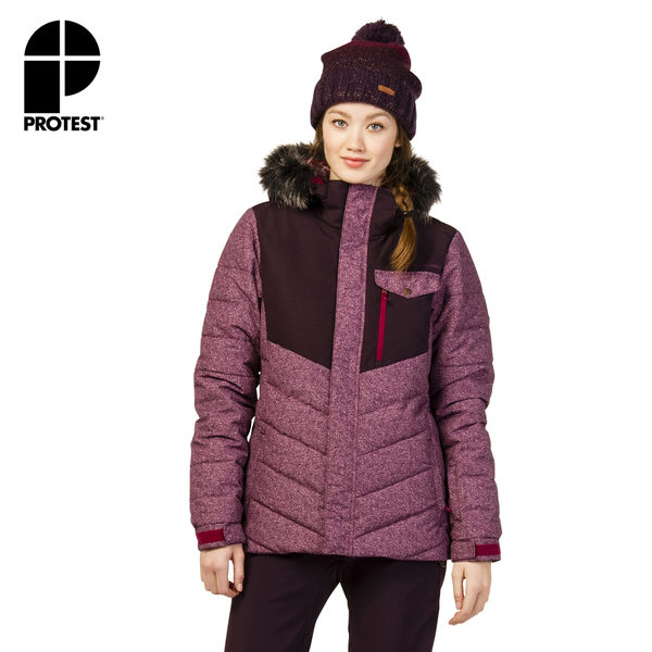 PROTEST 女 機能防水保暖外套 (紅寶石) ESTER SNOWJACKET