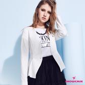 【SHOWCASE】無領立體腰身優雅西裝外套(白色)
