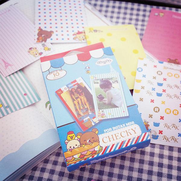 PGS7 富士 拍立得 - 日系卡通 拉拉熊 系列 盒裝加厚邊框 貼紙 裝飾 Mini 空白 底片 懶懶熊【SHT5184】