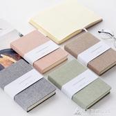 筆記本簡約素色布面手帳本 空白方格手賬本筆記本文具記事本子Z 交換禮物