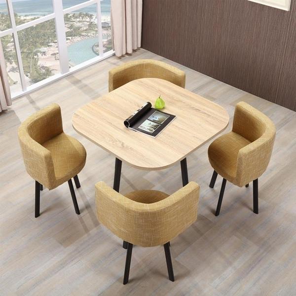 售樓部組合現代簡約接待會客談判桌椅咖啡廳奶茶店圓桌椅 YJT暖心生活館