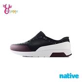 native水鞋 男鞋 休閒鞋 洞洞鞋 休閒鞋 懶人鞋 LENNOX BLOCK M9411#黑紅◆OSOME奧森鞋業