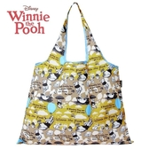 日本限定 迪士尼  小熊維尼 滿版生活風 折疊收納式 購物袋 / 手提袋