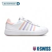 K-SWISS Pershing Court Light WP防水時尚運動鞋-女-白/粉紅/粉紫