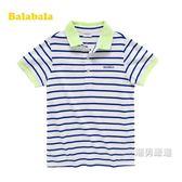 短袖T恤童短袖新品兒童棉質T恤衫寶寶翻領條紋短袖夏季