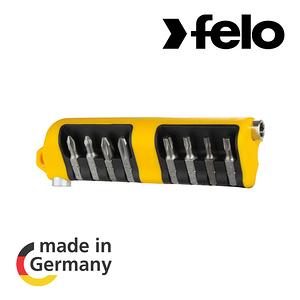【德國FELO】020起子接頭工具組9件組Bit-Tool