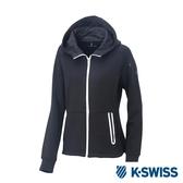 K-SWISS Traning Zip Up女運動外套-女-黑