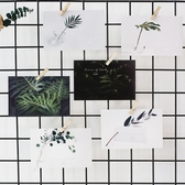 葉葉無聲網紅綠植明信片北歐小清新裝飾卡片INS日系文藝畢業賀卡