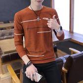 秋冬季男士毛衣加絨加厚圓領修身打底針織衫青年韓版潮流毛線衣男